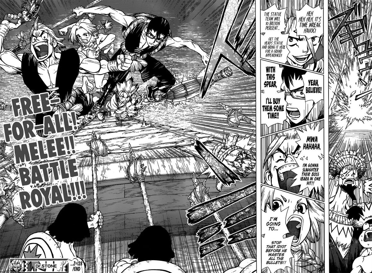 Dr. Stone : Chapter 128 - All-Out Battle Royal image 018