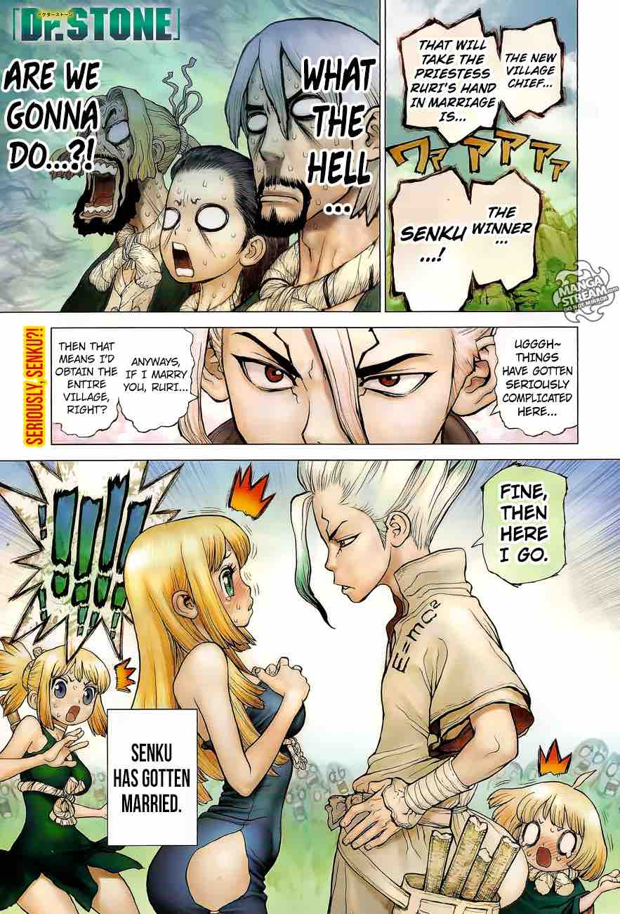 Dr. Stone : Chapter 40 - The fruits of 2,000,000 years image 001