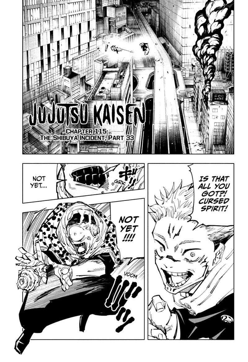 Jujutsu Kaisen, Chapter 115 image 001