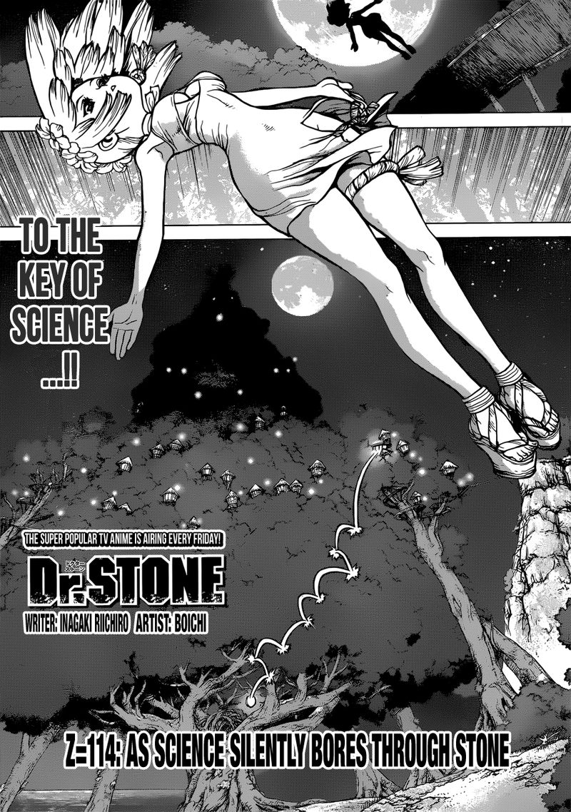 Dr. Stone : Chapter 114 - As Science Silently Bores through Stone image 001