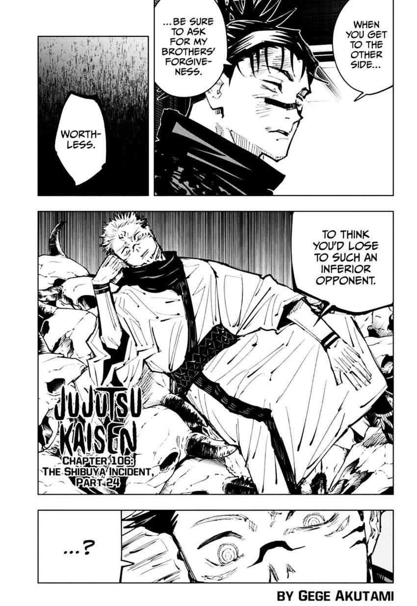 Jujutsu Kaisen, Chapter 106 image 001