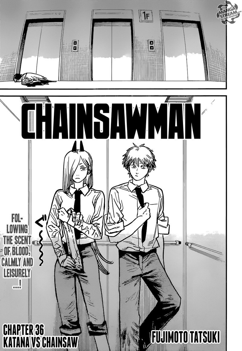 Chainsaw Man, Chapter 36 - Katana vs Chainsaw image 001