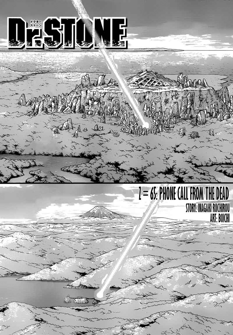 Dr. Stone : Chapter 65 - Phone Call from Dead Man image 003