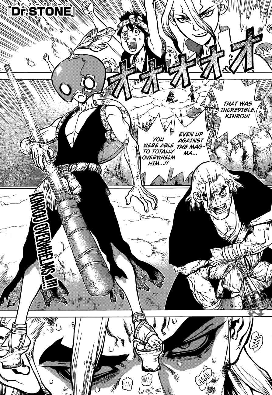 Dr. Stone : Chapter 36 - Kinrou and Ginrou image 001