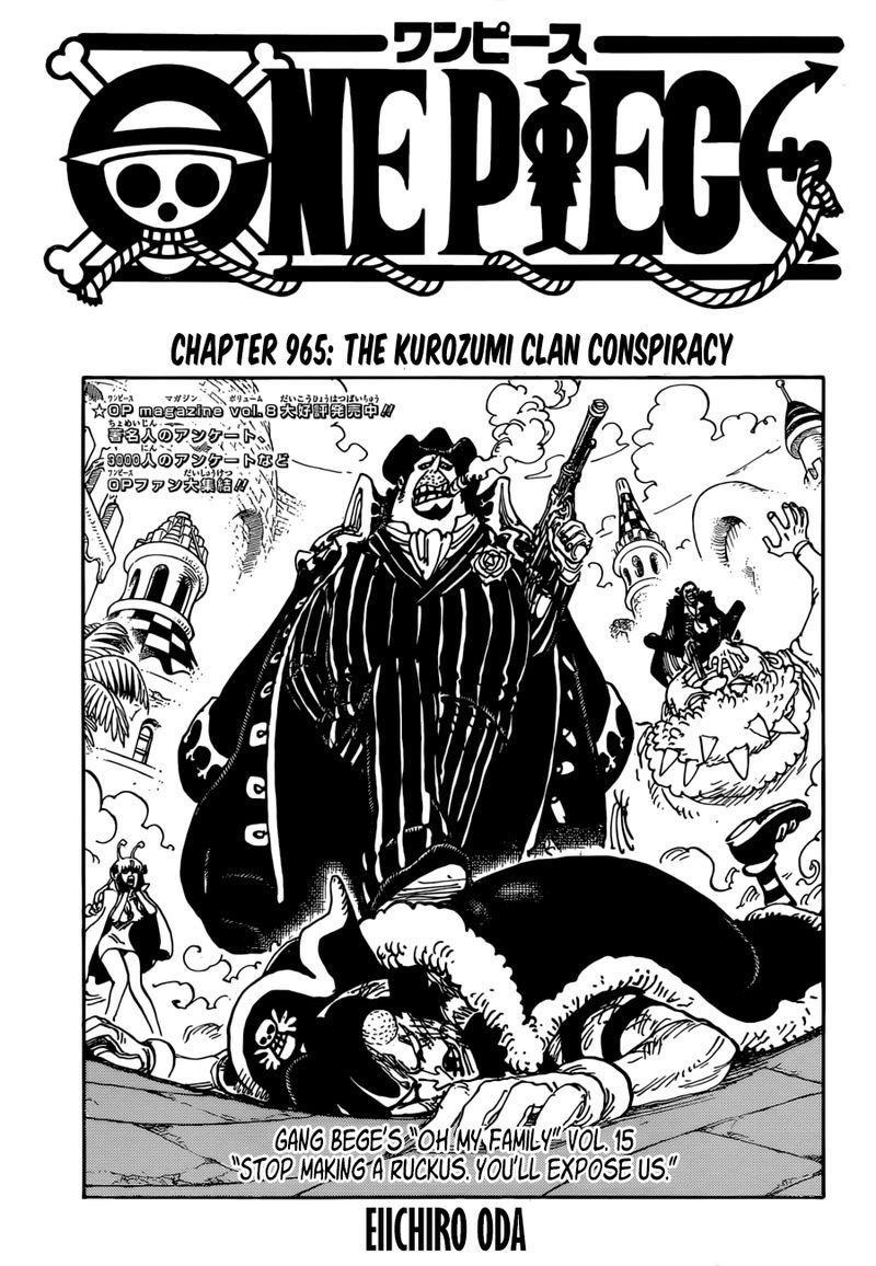 One Piece, Chapter 965 image 001
