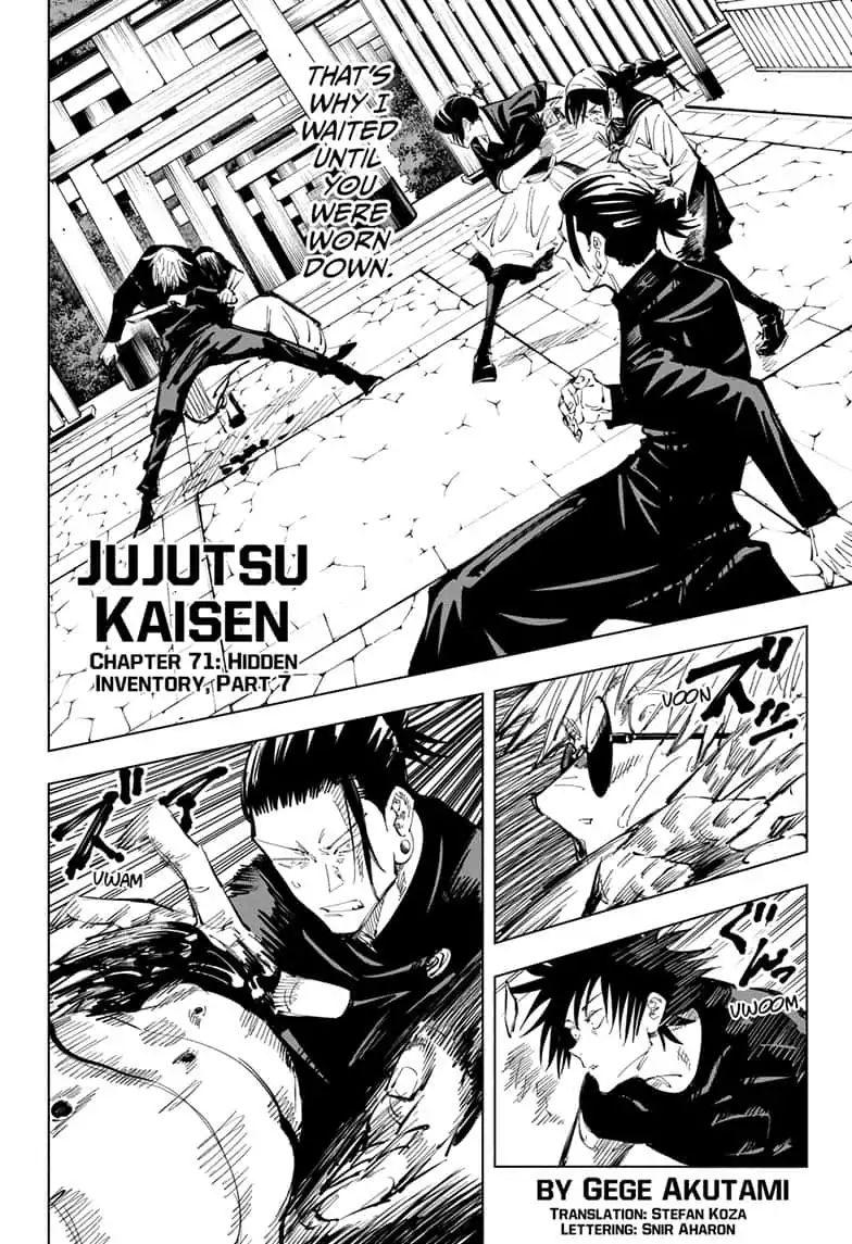 Jujutsu Kaisen, Chapter 71 image 002