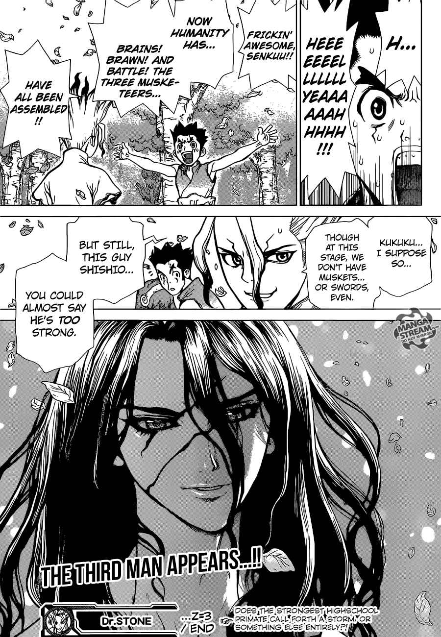 Dr. Stone : Chapter 3 - King of the Stone World image 020