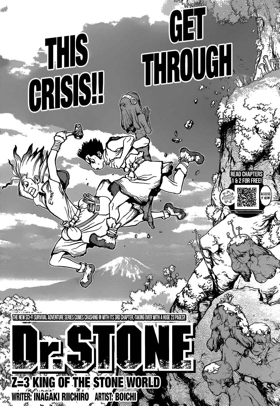 Dr. Stone : Chapter 3 - King of the Stone World image 008