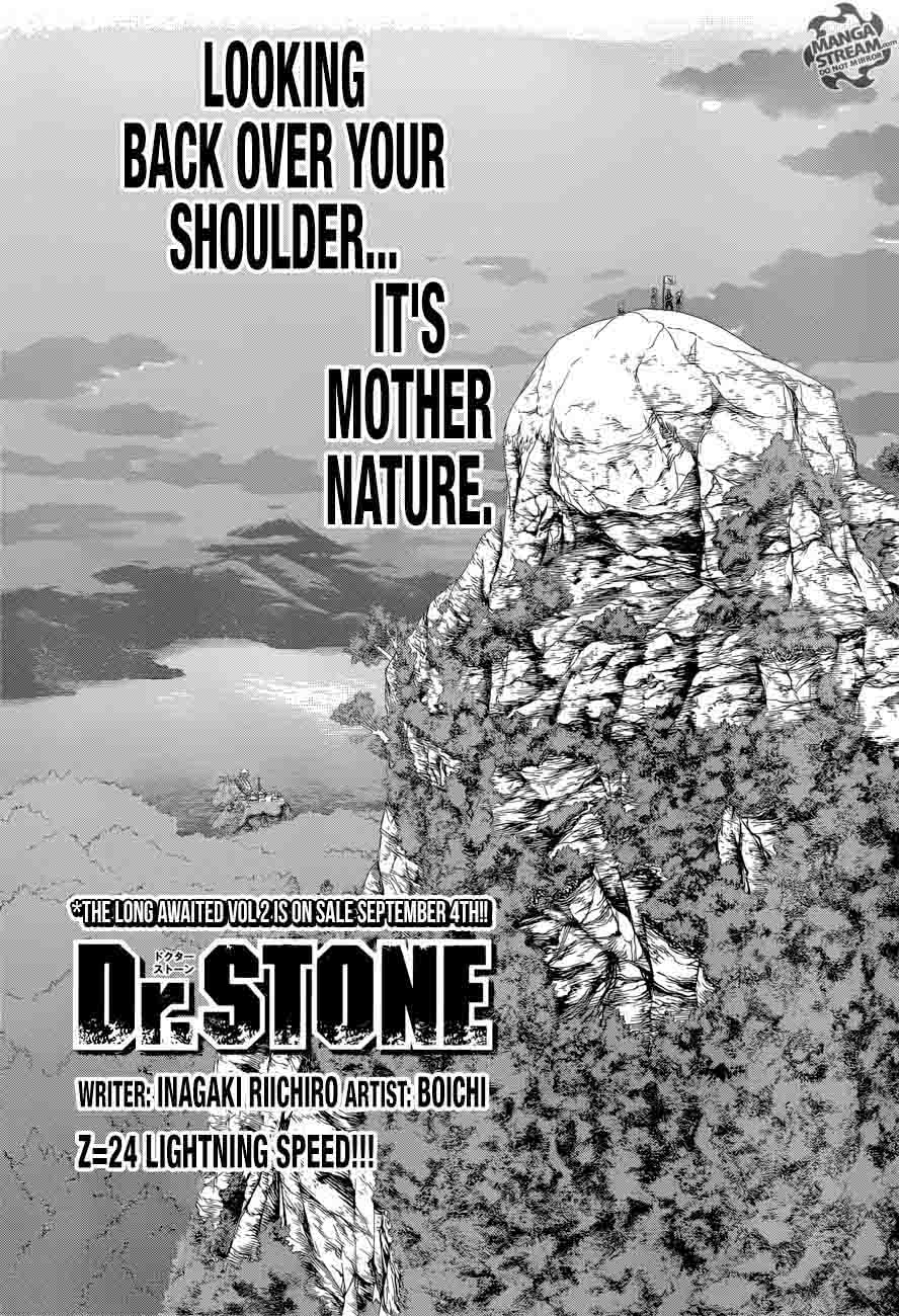 Dr. Stone : Chapter 24 - Lightning Speed image 001