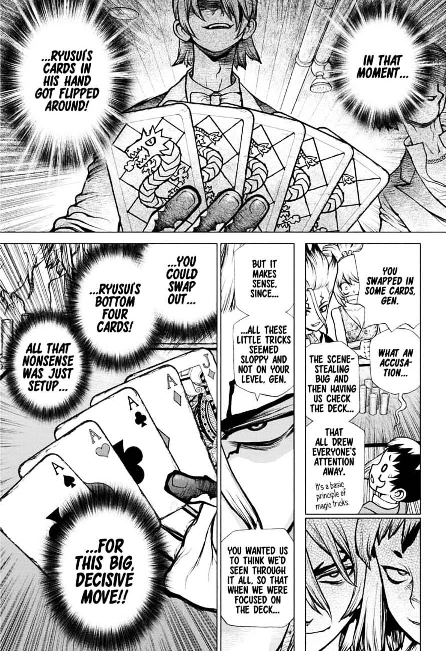 Dr. Stone : Chapter 144 - Ryusui & Gen vs. Senku & Kohaku image 011