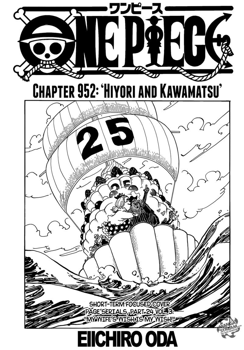One Piece, Chapter 952 image 001