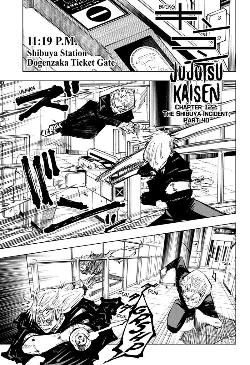 Jujutsu Kaisen, Chapter 122 image 001