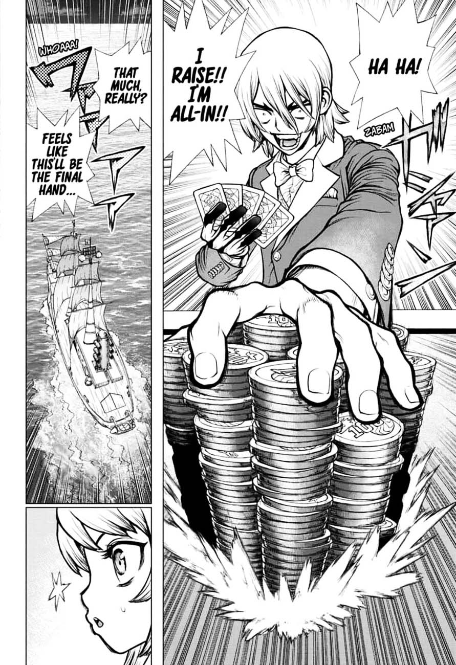 Dr. Stone : Chapter 144 - Ryusui & Gen vs. Senku & Kohaku image 010