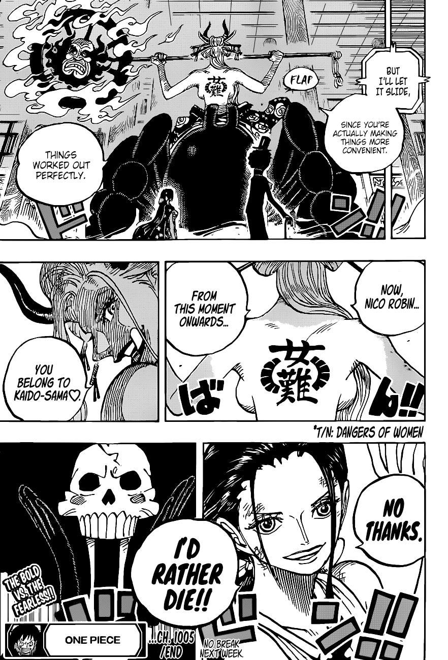 One Piece, Chapter 1005 image 017