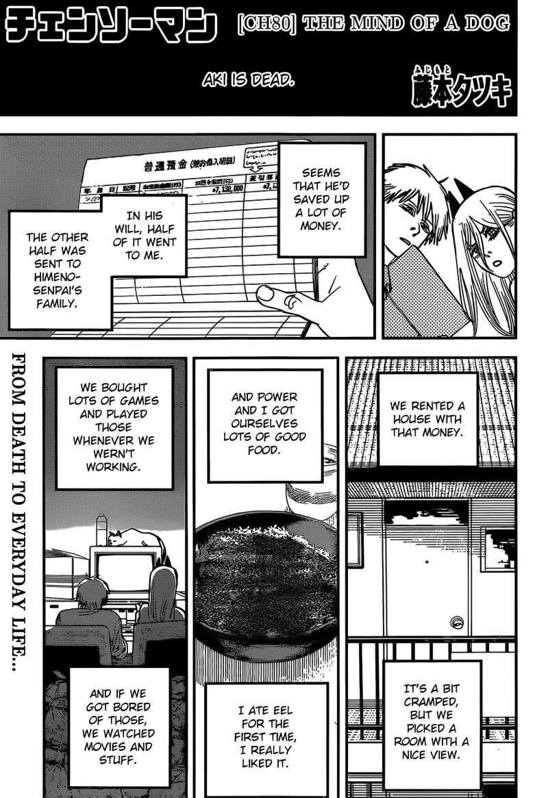 Chainsaw Man, Chapter 80 - The Mind of a Dog image 001