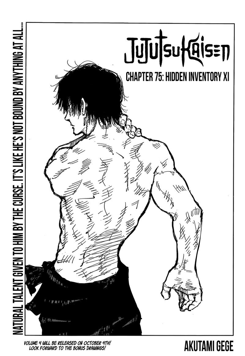 Jujutsu Kaisen, Chapter 75 image 001