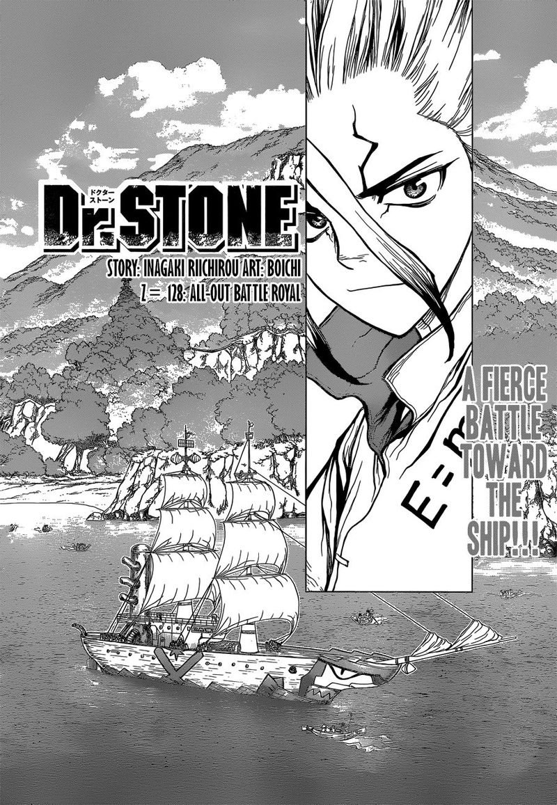 Dr. Stone : Chapter 128 - All-Out Battle Royal image 002