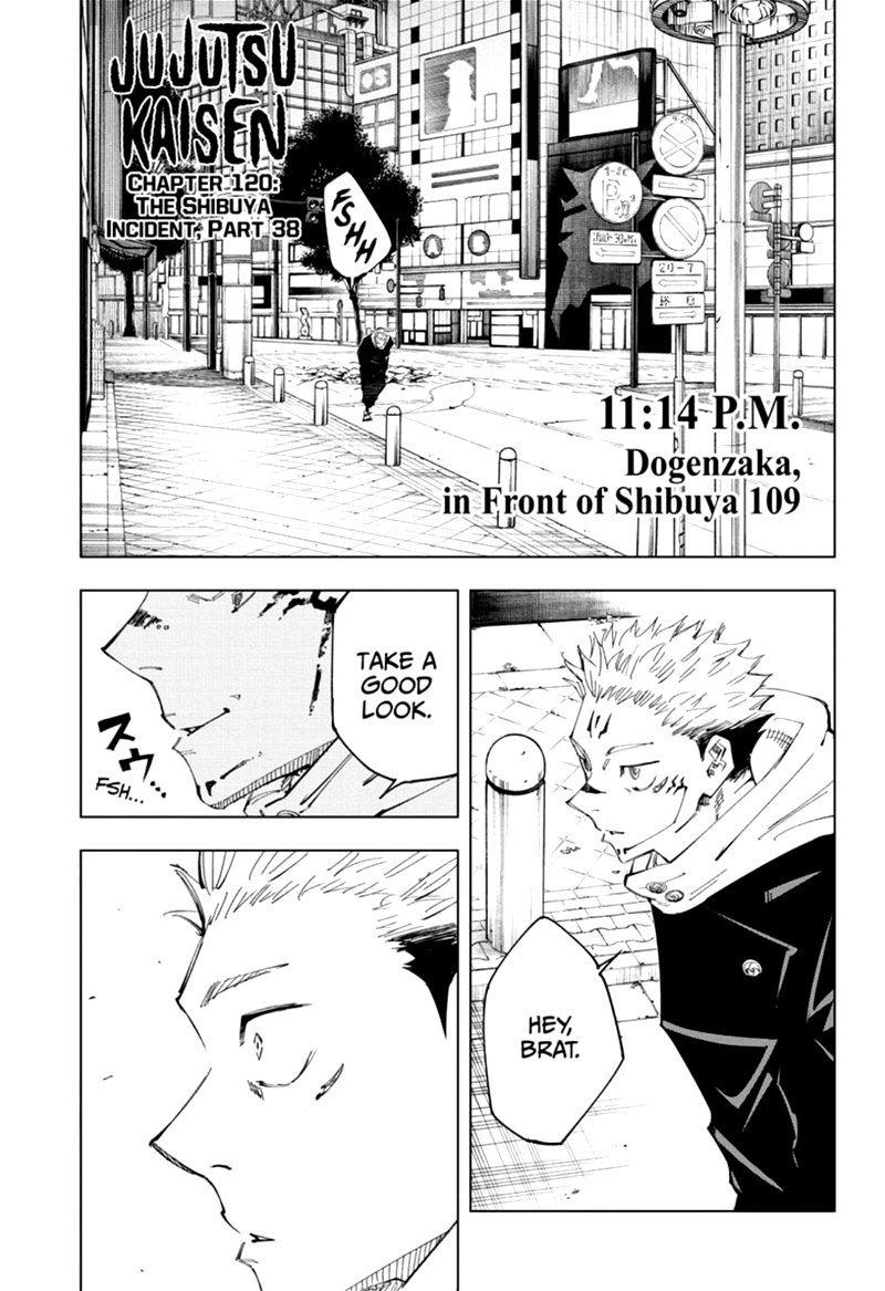 Jujutsu Kaisen, Chapter 120 image 001