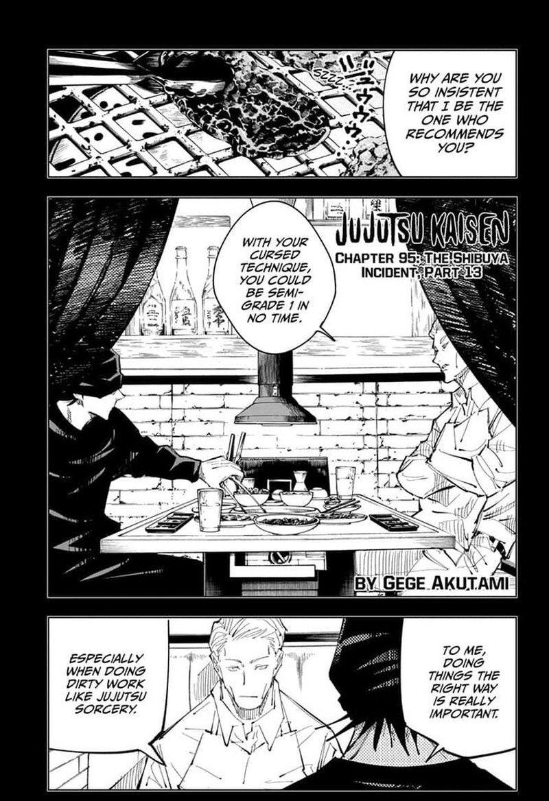 Jujutsu Kaisen, Chapter 95 image 001