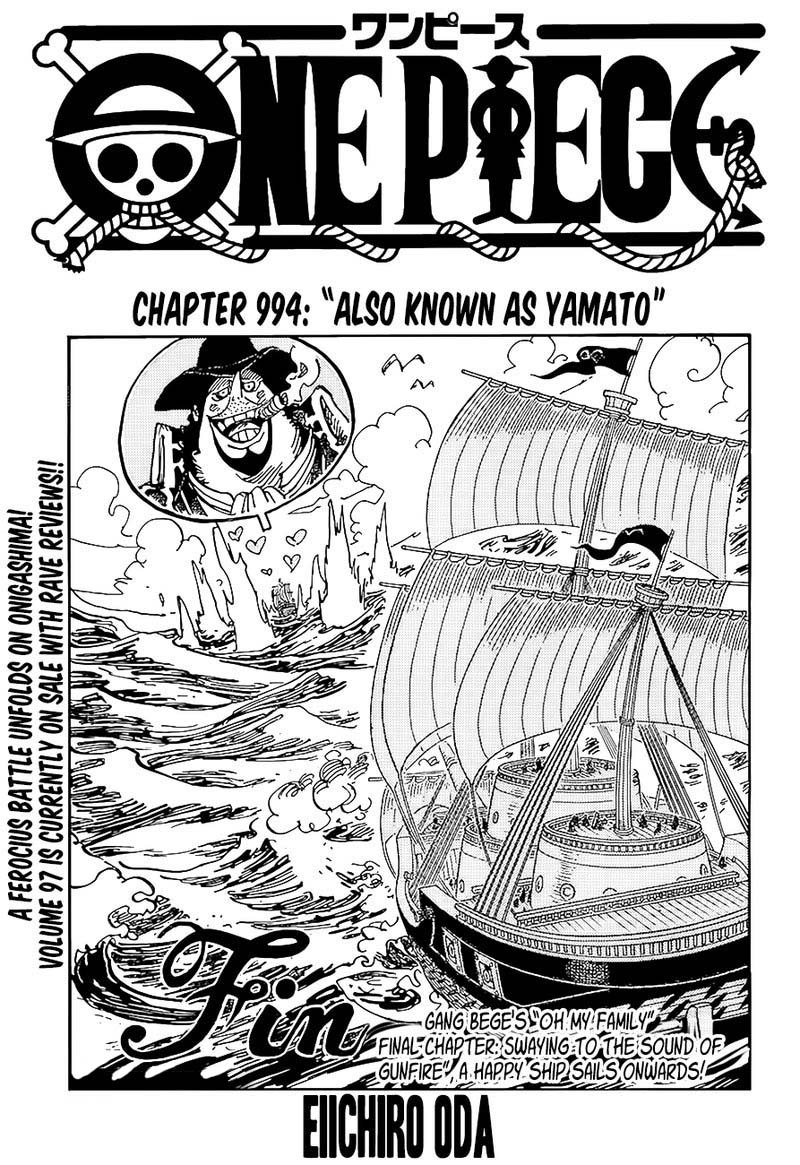One Piece, Chapter 994 image 001