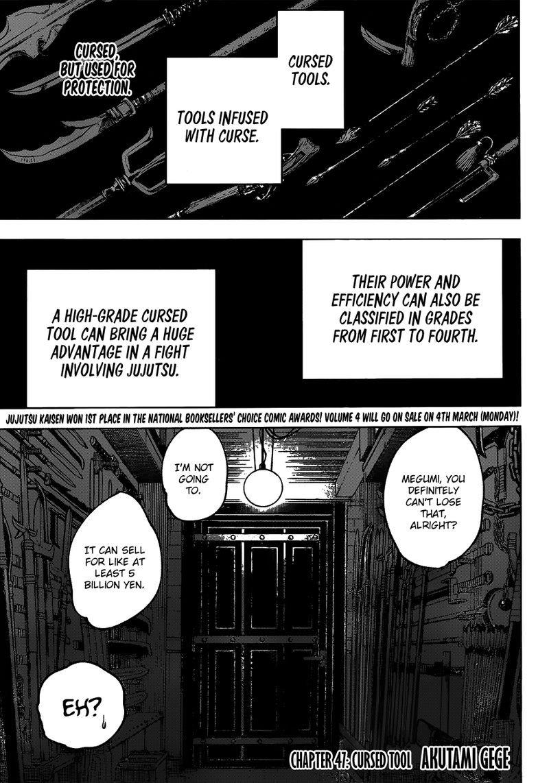 Jujutsu Kaisen, Chapter 47 image 001