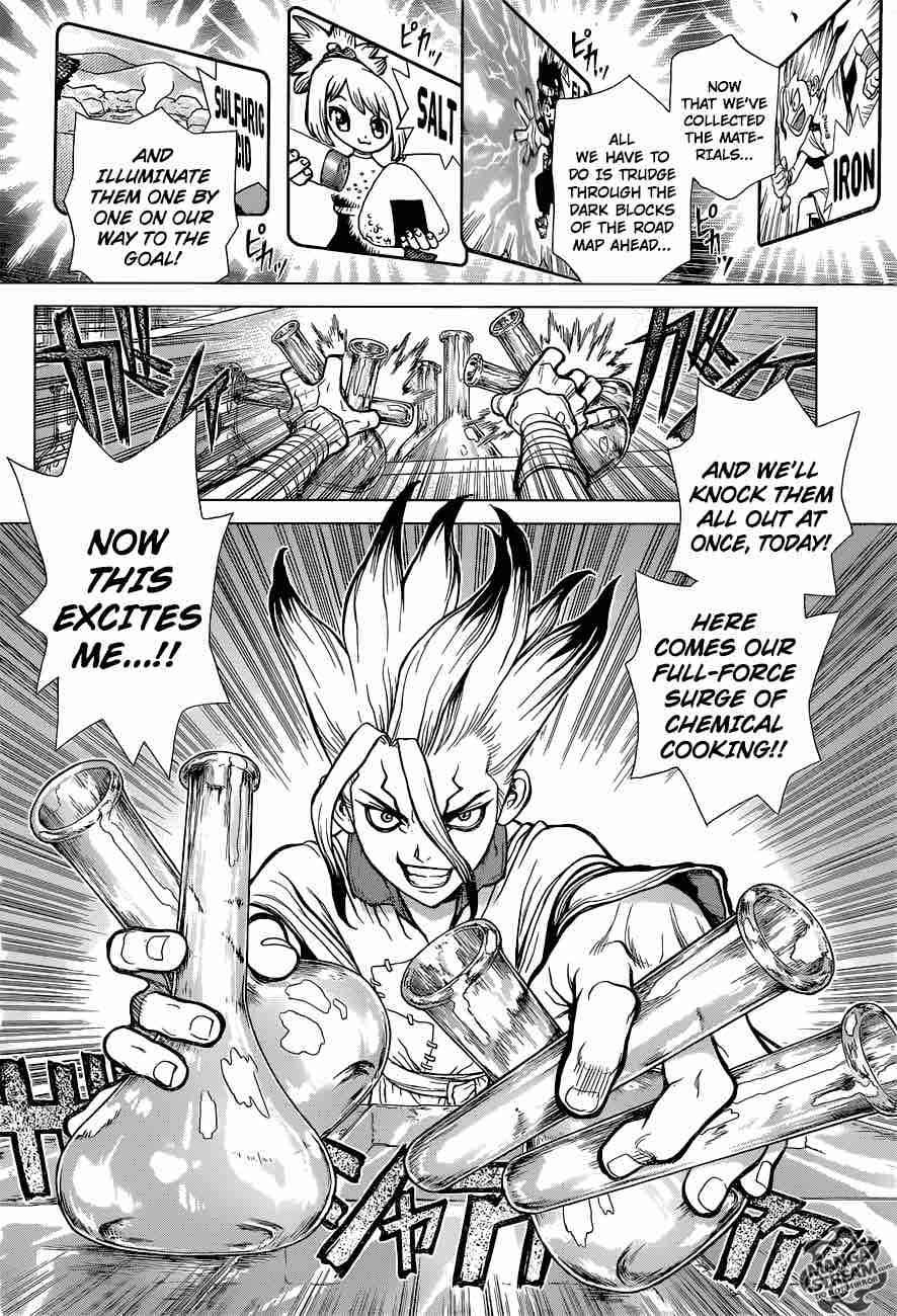 Dr. Stone : Chapter 33 - Crazy Chemicals image 002
