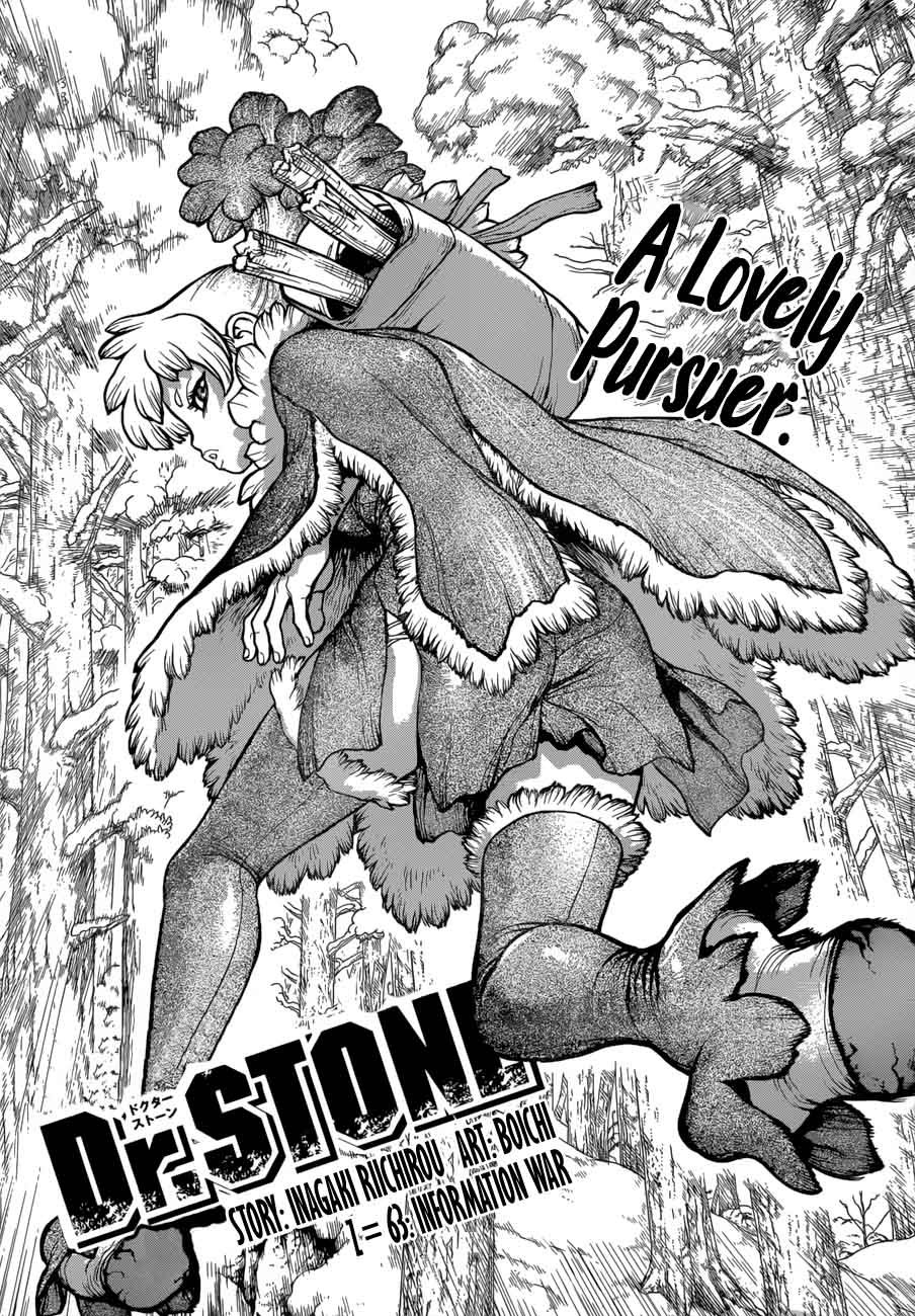 Dr. Stone : Chapter 63 - Information War image 001