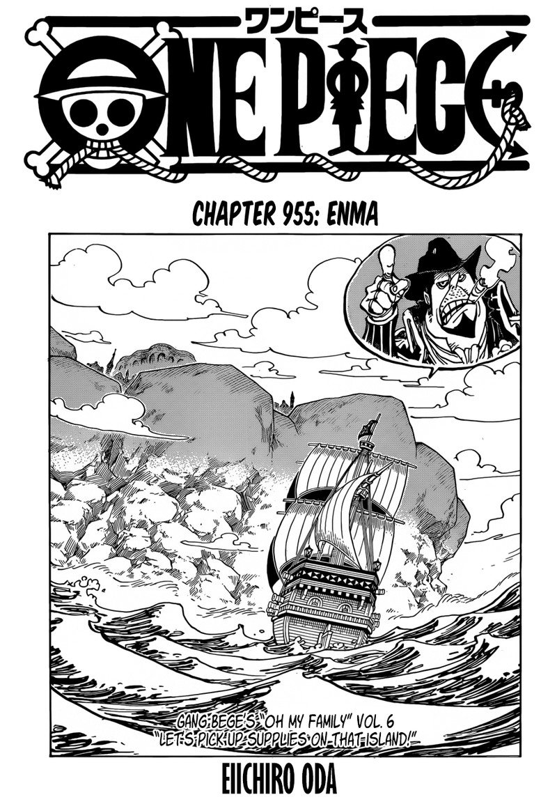 One Piece, Chapter 955 image 001