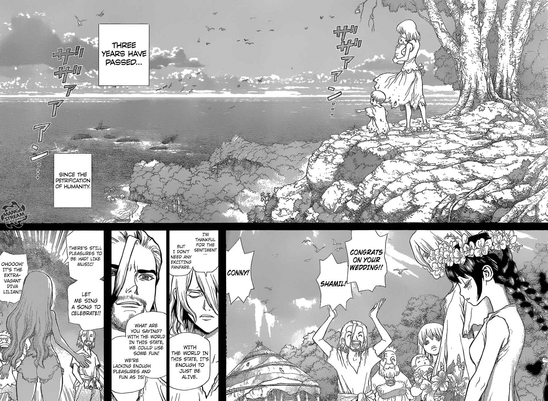 Dr. Stone : Chapter 44 - 100 Nights and 1,000 Skies image 014