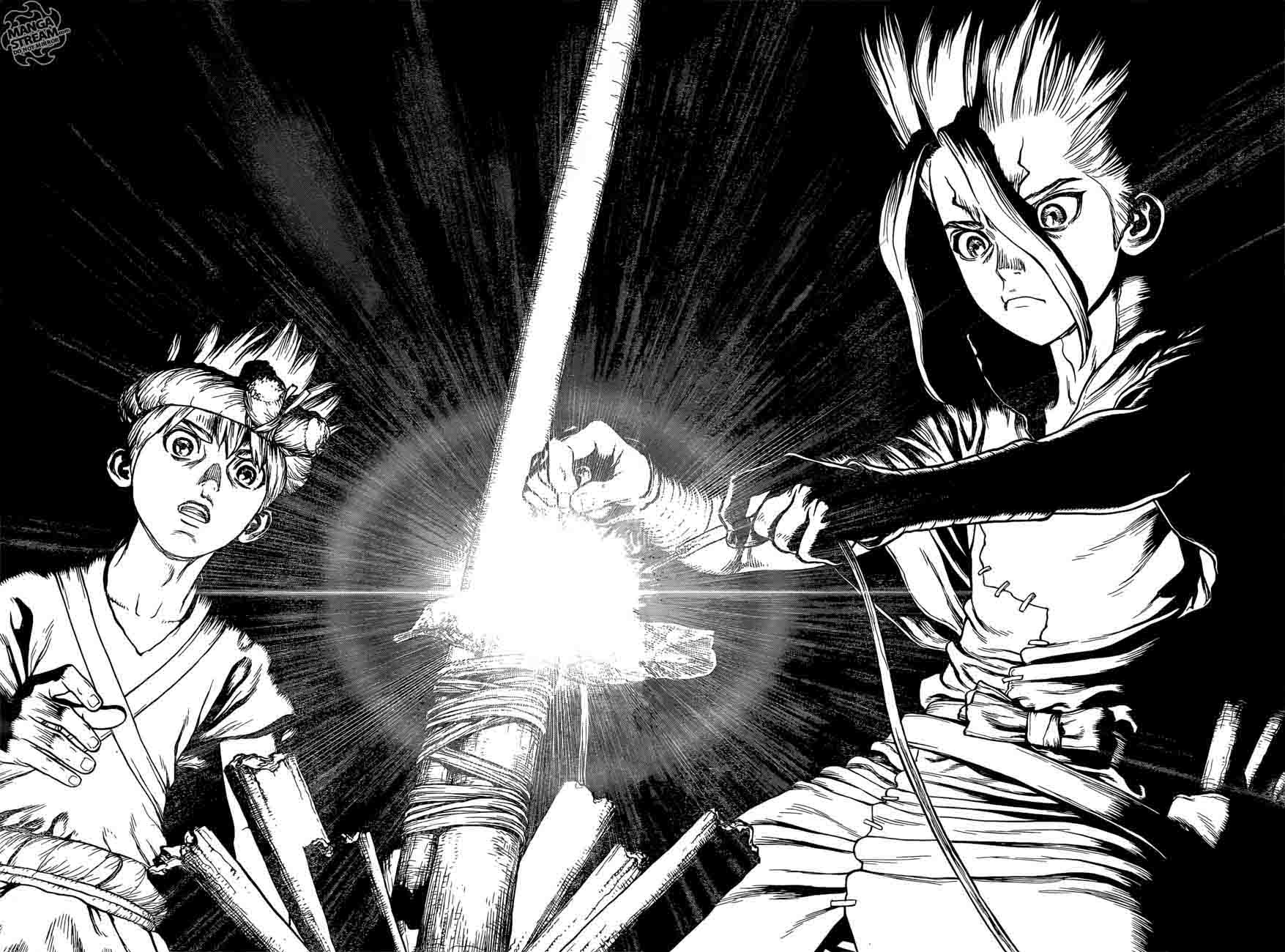 Dr. Stone : Chapter 25 - In this hand, I hold the light of science! image 016