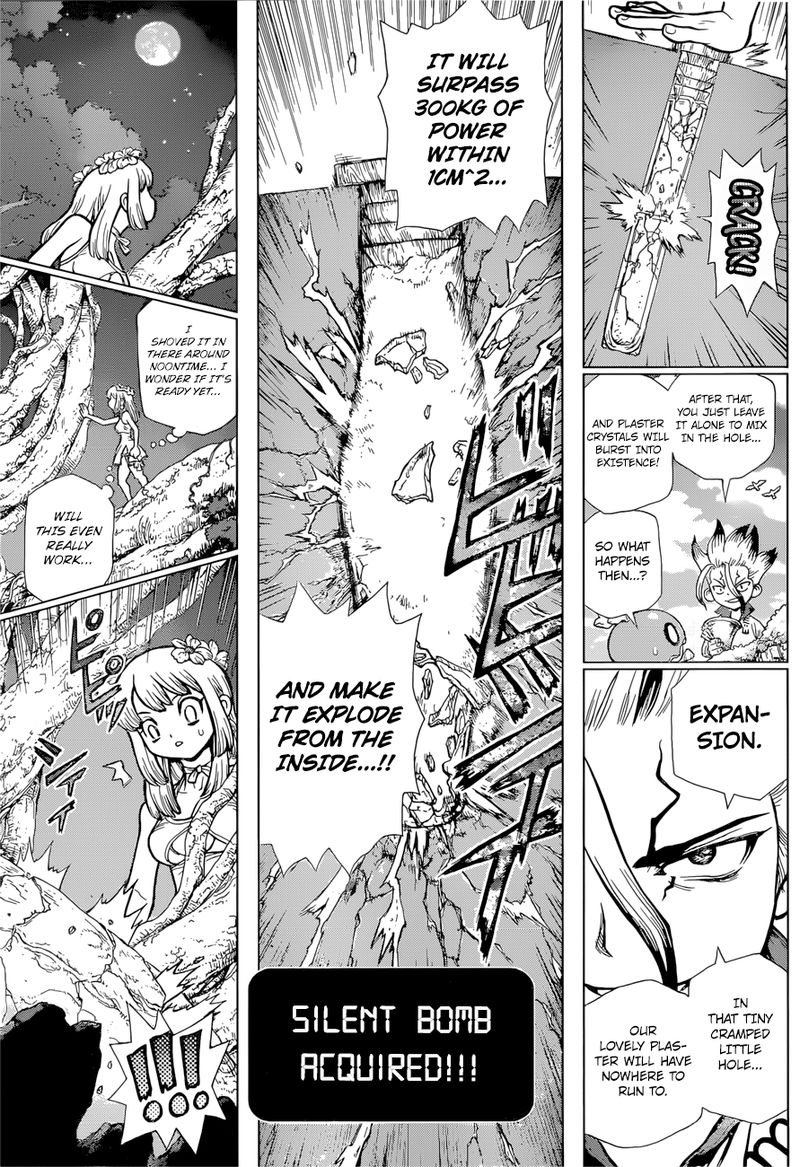Dr. Stone : Chapter 114 - As Science Silently Bores through Stone image 014