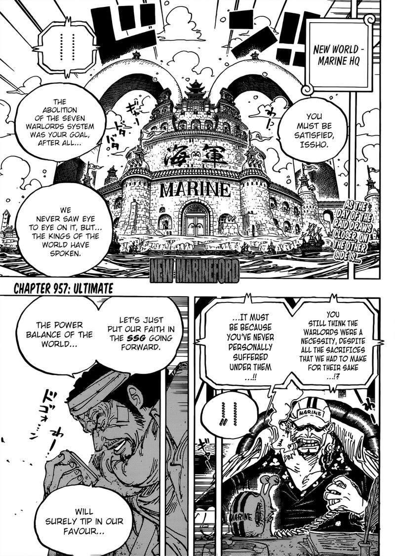One Piece, Chapter 957 image 003