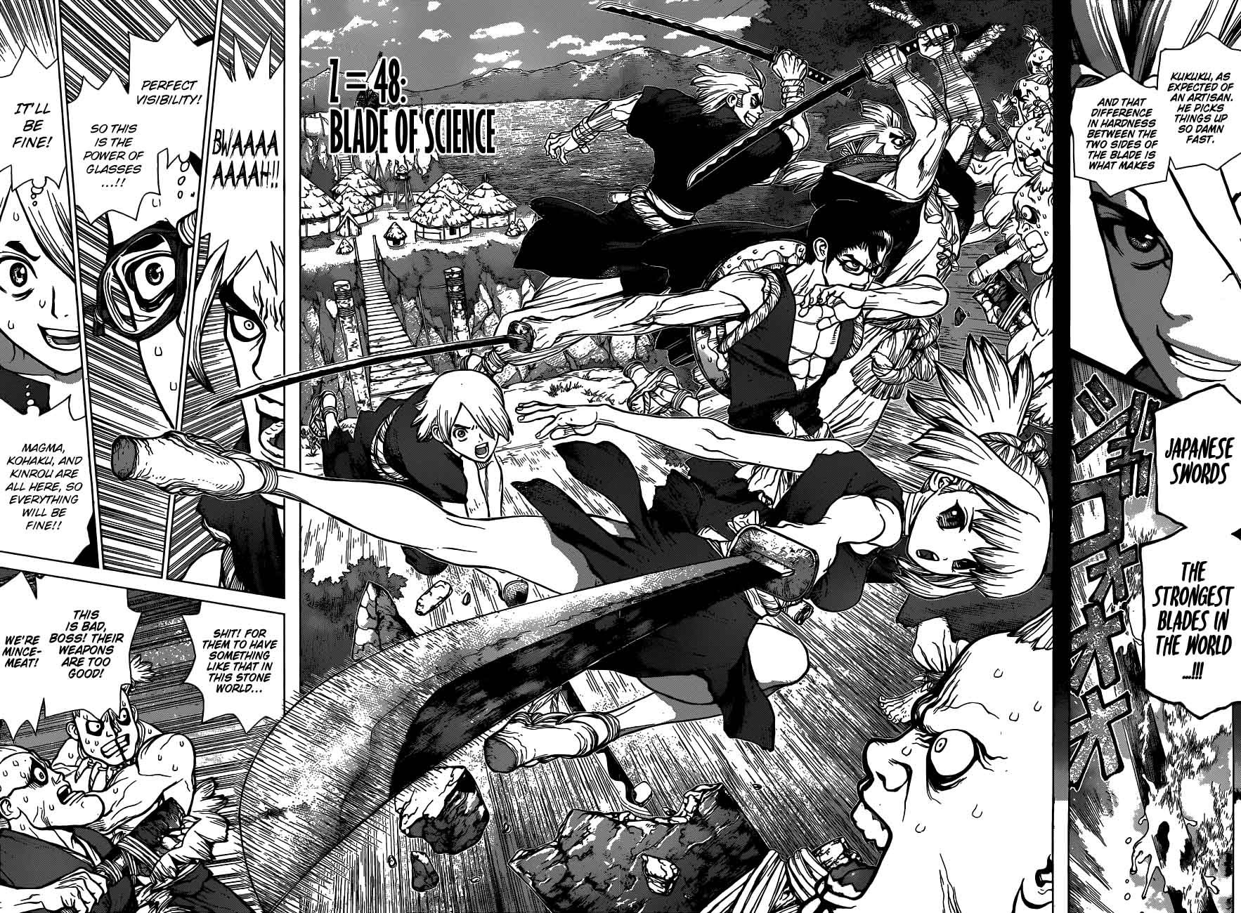 Dr. Stone : Chapter 48 - Blade of Science image 004