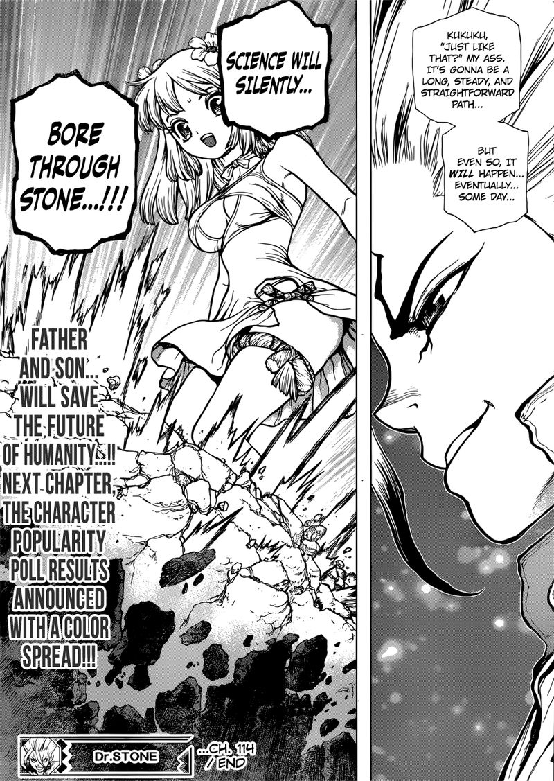 Dr. Stone : Chapter 114 - As Science Silently Bores through Stone image 018