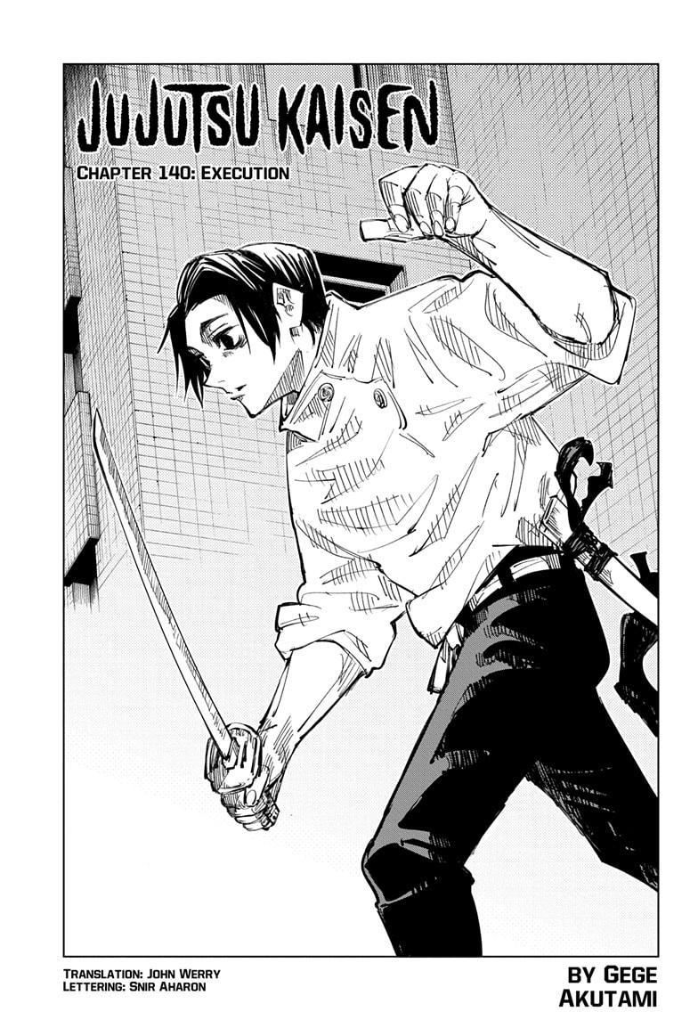 Jujutsu Kaisen, Chapter 140 image 001